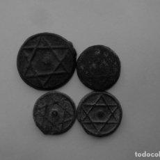 Monedas hispano árabes: MONEDAS CON LA ESTRELLA DE DAVID. Lote 71547559
