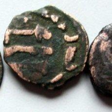 Monedas hispano árabes: 3 PEQUEÑAS MONEDAS DE COBRE. Lote 81157864
