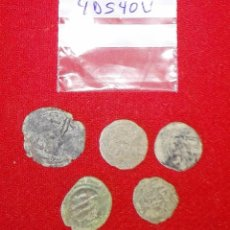 Monedas hispano árabes: BUEN LOTE DE 5 FELUS HISPANO ARABES - COBRE - CALIFATO DE CORDOBA - RAROS. Lote 91395290