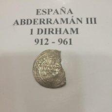 Monedas hispano árabes: MONEDA ABDERRAMAN LLL 912-961 1 DIRHAM DE PLATA. Lote 114353679