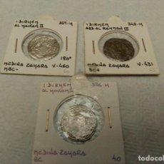 Monedas hispano árabes: LOTE DE 3 MONEDAS PLATA MEDINA AL- ZAHARA. Lote 114690515