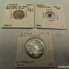 Monedas hispano árabes: LOTE DE 3 MONEDAS ALANDALUS. Lote 114724479