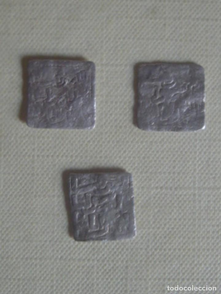 Monedas hispano árabes: 3 x dirham almohade de plata, 1121-1269 - Foto 2 - 117207927