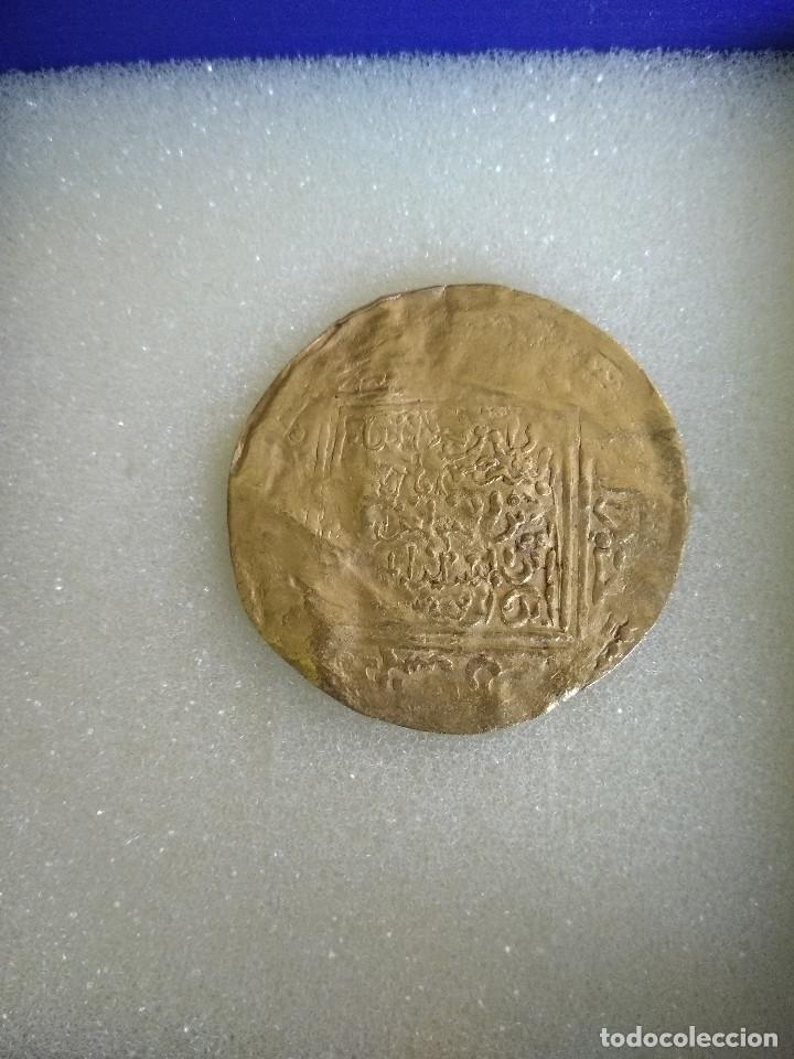 Monedas hispano árabes: Moneda de oro hispanomusulmana - Foto 2 - 122537231