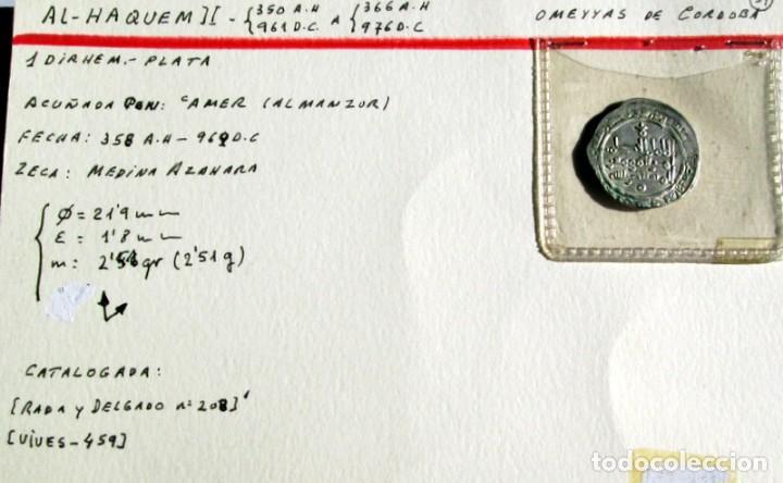 AL HAQUEM II - DIRHEM- PLATA (Numismática - Hispania Antigua - Hispano Árabes)