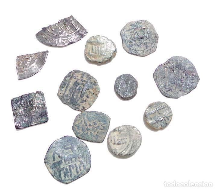 LOTE DE FELUSES Y DIRHEM HISPANO ARABES (Numismática - Hispania Antigua - Hispano Árabes)