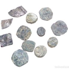 Monedas hispano árabes: LOTE DE FELUSES Y DIRHEM HISPANO ARABES. Lote 139236810