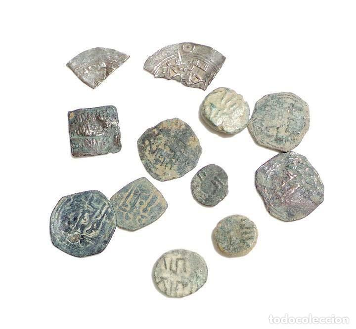 Monedas hispano árabes: LOTE DE FELUSES Y DIRHEM HISPANO ARABES - Foto 2 - 139236810