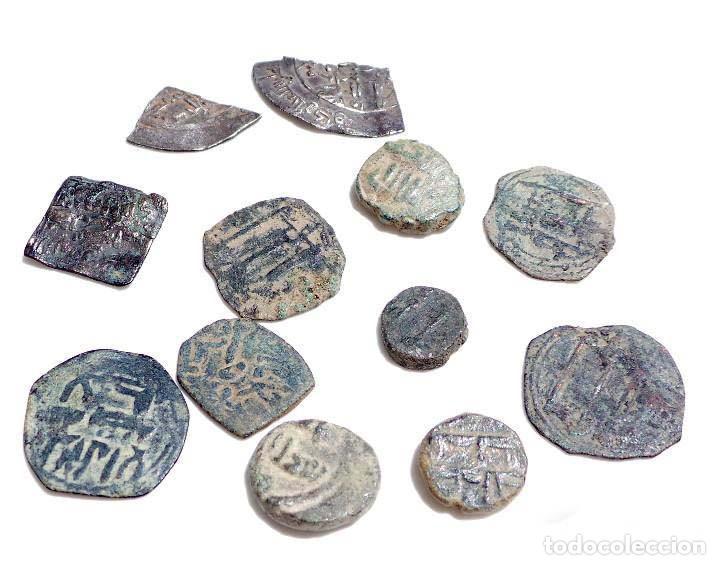 Monedas hispano árabes: LOTE DE FELUSES Y DIRHEM HISPANO ARABES - Foto 7 - 139236810
