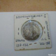Monedas hispano árabes: DIRHAM EMIRES OMEYAS PLATA CECA AL ALDALUS HEGIRA HISPANO ARABE ABDEDARRAHMAN I VER FOTOS ESTADO Y D. Lote 143580657