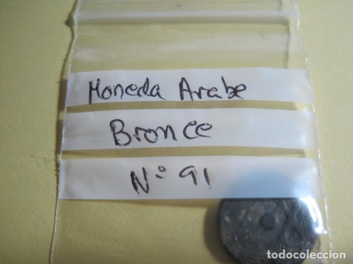 Monedas hispano árabes: MONEDA ARABE DE BRONCE - Foto 3 - 144650954