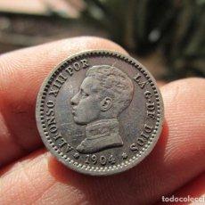 Monedas hispano árabes: ALFONSO XIII . 50 CENTIMOS DE 1904 . ESTRELLAS. Lote 151233054