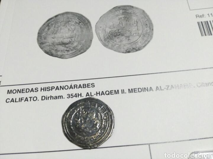 Monedas hispano árabes: Califato Cordoba Dirhem dirham 353 h Al-haqem al-haken II Medina Azahara 2,89gr MBC certificado aut - Foto 5 - 115523475
