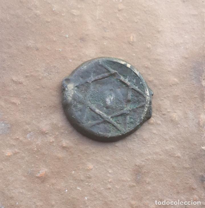 ANTIGUA MONEDA FELUS O FALUS. ESTRELLA DE DAVID (Numismática - Hispania Antigua - Hispano Árabes)