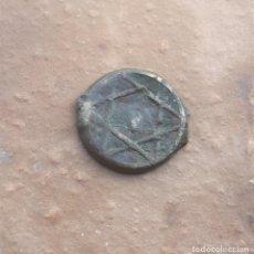 Monedas hispano árabes: ANTIGUA MONEDA FELUS O FALUS. ESTRELLA DE DAVID. Lote 166931496