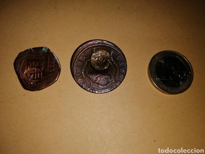 2 MONEDAS MARAVEDIS RESELLADAS (Numismática - Hispania Antigua - Hispano Árabes)