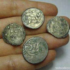 Monedas hispano árabes: INTERESANTE LOTE DE MONEDAS ÁRABES. TODAS DE PLATA.. Lote 171442967