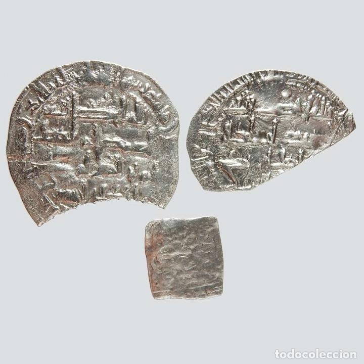 Monedas hispano árabes: Monedas hispano árabes. 2 Dirhams emirales y una Almohade. 34-L - Foto 2 - 172900920