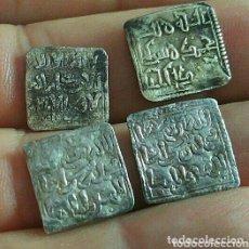 Monedas hispano árabes: MUY BIEN CONSERVADOS LOTE 4 DIRHEM CUADRADOS DIRHAM ALMOHADES : 1 CECA FEZ, OTRO ESCRITURA CÚFICA. Lote 173007488