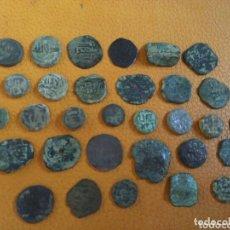Monedas hispano árabes: LOTE 33 FELUS HISPANO ÁRABES A LIMPIAR Y CATALOGAR, DE EPOCA GOBERNADORES Y OTRAS.... Lote 173461657