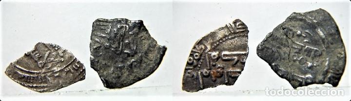 2 FRAGMENTOS DE DIRHAM HISPANO ARABES (Numismática - Hispania Antigua - Hispano Árabes)