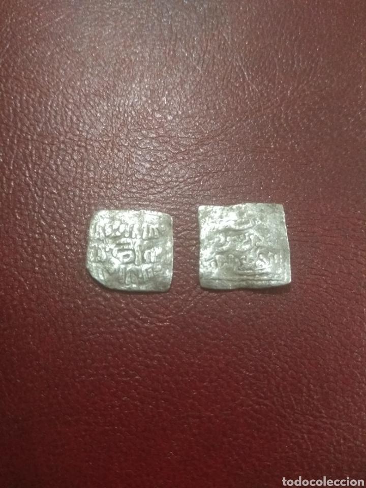 ALMOHADES. LOTE DE 2 DIRHAMS DE PLATA A IDENTIFICAR. (Numismática - Hispania Antigua - Hispano Árabes)