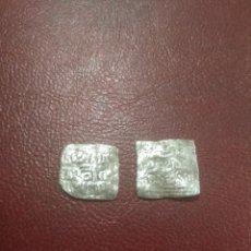 Monedas hispano árabes: ALMOHADES. LOTE DE 2 DIRHAMS DE PLATA A IDENTIFICAR.. Lote 182426956