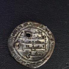 Monedas hispano árabes: MONEDA HISPANO ARABE TAIFA MALAGA ALMADHI. Lote 184501980