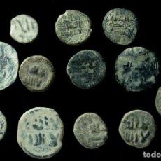 Monedas hispano árabes: LOTE DE 12 FELUS HISPANO ARABES. Lote 185681167