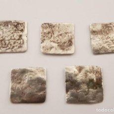 Monedas hispano árabes: LOTE 5 DIRHAMS CUADRADOS, ÉPOCA ALMOHADE, 545-635AH (1150-1238 D.C.) - PLATA. Lote 190438896
