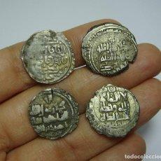Monedas hispano árabes: INTERESANTE LOTE DE MONEDAS ÁRABES. TODAS DE PLATA.. Lote 204977543