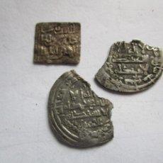 Monedas hispano árabes: LOTE DE 3 MONEDAS ARABES DE PLATA. Lote 205350955