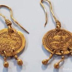 Monedas hispano árabes: PENDIENTES DE ORO HISPANO-ÁRABES DEL CALIFATO.-( 790-890 ). 4,75 GR.-( PIEZAS ÚNICAS ).. Lote 205803077