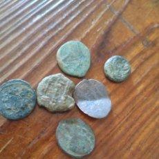 Monedas hispano árabes: 6 MONEDAS ÁRABES A LIMPIAR Y DATAR,L3. Lote 210101923