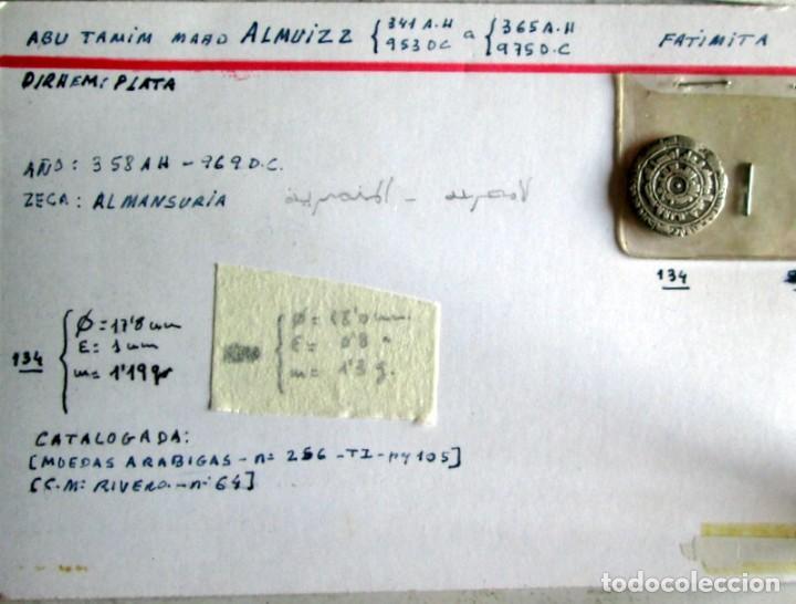 Monedas hispano árabes: ALMUIZ -D. FATIMITA -PLATA - Foto 3 - 210207625