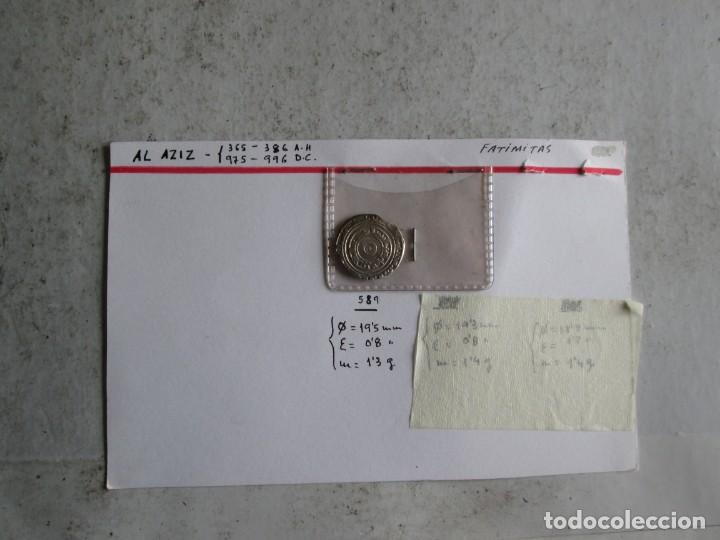AL AZIZ -D. - FATIMITA - PLATA (Numismática - Hispania Antigua - Hispano Árabes)