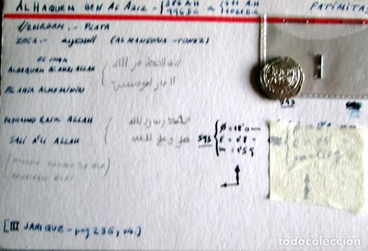 AL HAQUEM BEN AL AZIZ- D. FATIMITA - PLATA (Numismática - Hispania Antigua - Hispano Árabes)