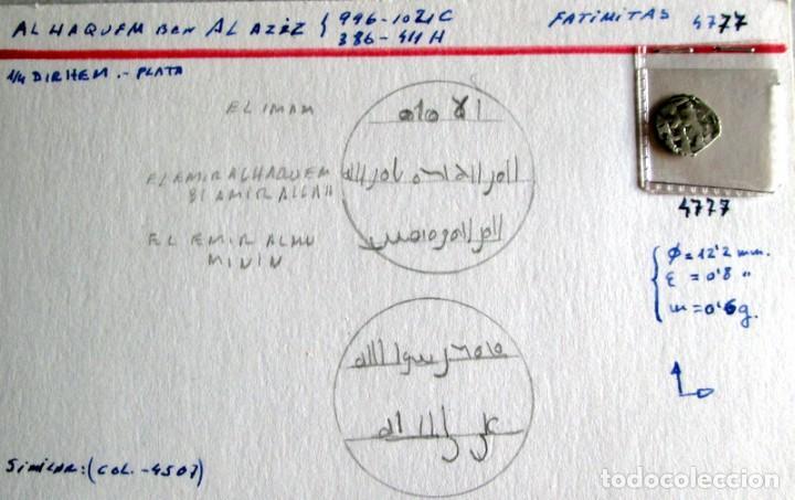 AL HAQUEM BEN AL AZIZ -1/4 D. -FATIMITA - PLATA (Numismática - Hispania Antigua - Hispano Árabes)