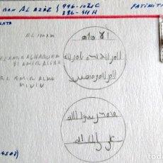 Monedas hispano árabes: AL HAQUEM BEN AL AZIZ -1/4 D. -FATIMITA - PLATA. Lote 210209725