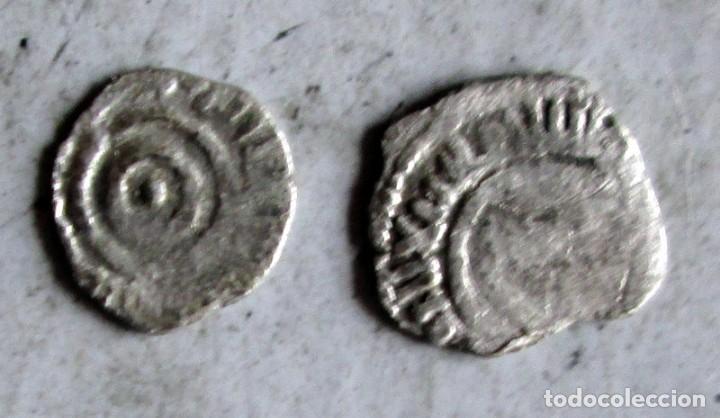 Monedas hispano árabes: 2 FATIMITAS DE PLATA -AL AZIZ ? - Foto 2 - 210210158