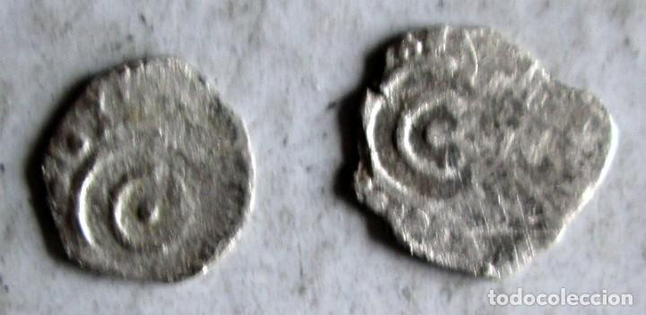 Monedas hispano árabes: 2 FATIMITAS DE PLATA -AL AZIZ ? - Foto 3 - 210210158