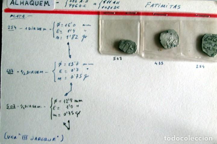 3 FATIMITASDE AL HAQUEM - PLATA (Numismática - Hispania Antigua - Hispano Árabes)