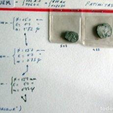 Monedas hispano árabes: 3 FATIMITASDE AL HAQUEM - PLATA. Lote 210210461