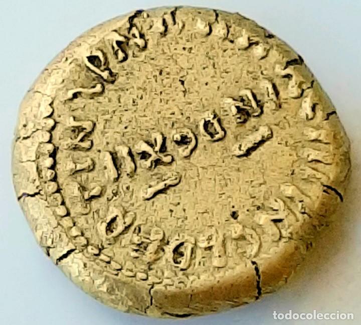 Monedas hispano árabes: Dinar Electro al-Walib e Ibn Abd al-Malik. Indicción 12. Y Dirhem Cuadrangular - Foto 6 - 214552523