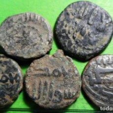 Monedas hispano árabes: LOTE DE 5 FELUS, !ª ÉPOCA DE LA DOMINACIÓN EN HISPANIA, MBC+/MBC, CU. Lote 218031661