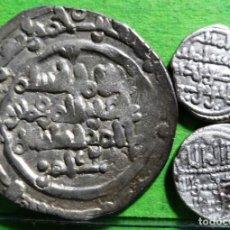 Monedas hispano árabes: LOTE DE 3 MONEDAS, CALIFATO DE CORDOBA (1) Y LOS ALMORAVIDES (2) POR CLASIFICAR. AG. Lote 218033383
