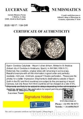 Monedas hispano árabes: Califato de Córdoba - Hisam II, dirham - Al-Ándalus, 396 H-1006 d.C - Foto 3 - 213714530