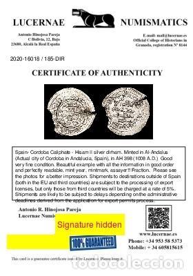 Monedas hispano árabes: Califato de Córdoba - Hisam II, dirham - Al-Ándalus, 398 H-1008 d.C - Foto 3 - 213714838