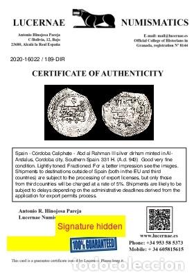Monedas hispano árabes: Califato de Córdoba, Abd al Rahman III, dirham. 331 H. 189-D - Foto 3 - 213715940