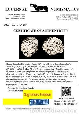 Monedas hispano árabes: Califato de Córdoba - Hisam II dirham Al-Ándalus 401-402 H. (194-D) - Foto 3 - 213717121